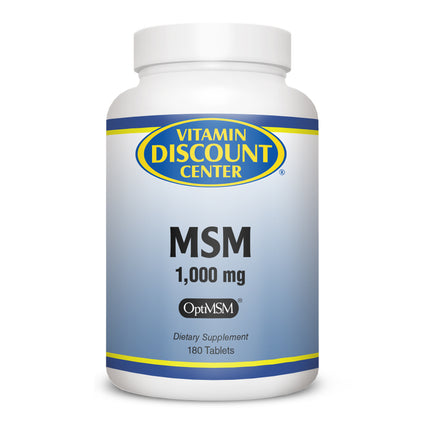 MSM 1000mg by Vitamin Discount Center - 180 Tablets