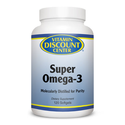 Super Omega-3 Fish Oil Supplement by Vitamin Discount Center - 120 Softgels