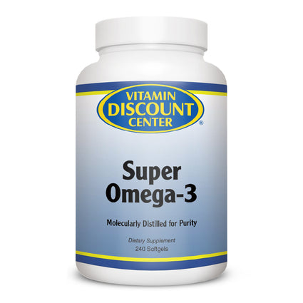 Super Omega-3 Fish Oil Supplement by Vitamin Discount Center - 240 Softgels