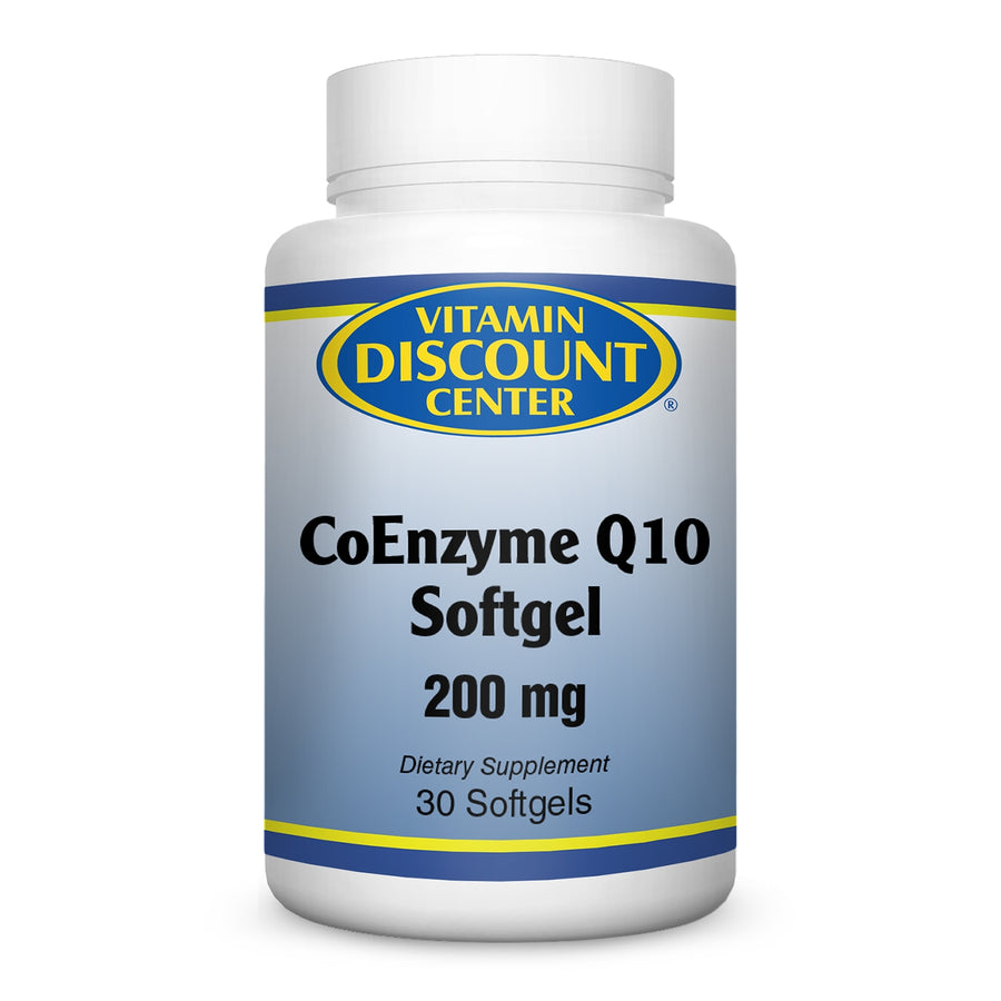 Coenzyme Q10 200 mg Softgel By Vitamin Discount Center - 30 Softgels