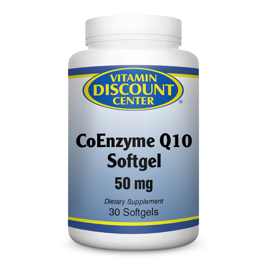 CoEnzyme Q 10 Softgel 50mg by Vitamin Discount Center - 30 Softgels COQ10
