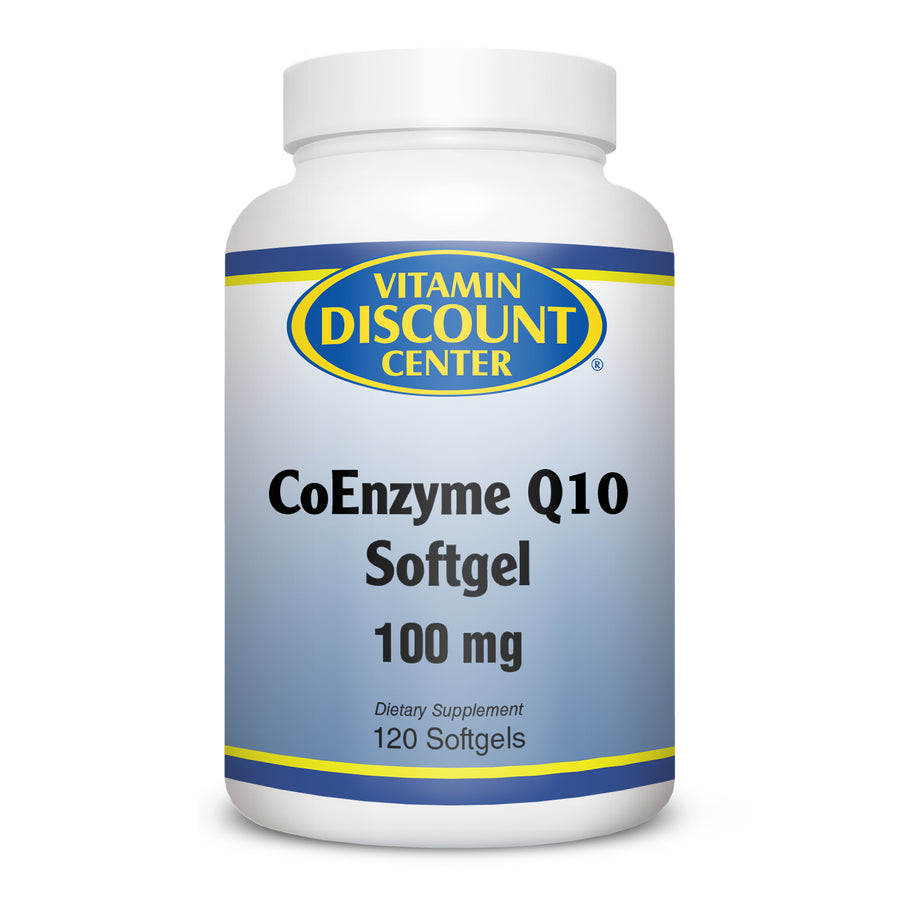 Coenzyme Q10 100mg by Vitamin Discount Center - 120 Softgels COQ10