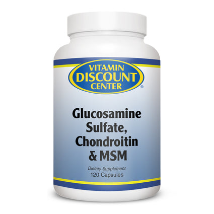 Glucosamine Chondroitin Sulfate MSM By Vitamin Discount Center - 120 Capsules
