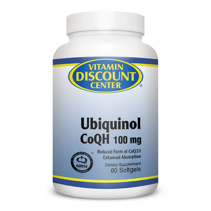 Ubiquinol CoQH 100mg By Vitamin Discount Center - 60 Softgels