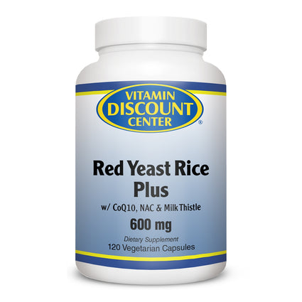 Red Yeast Rice Plus 600mg By Vitamin Discount Center - 120 Capsules