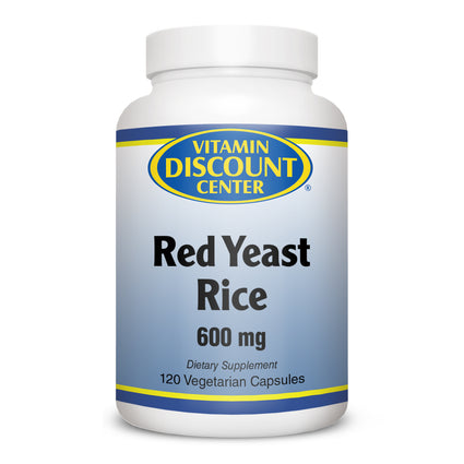 Red Yeast Rice 600 mg By Vitamin Discount Center - 120 Veg Capsules