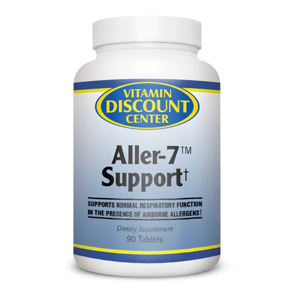 Aller-7 Natural Allergy Support by Vitamin Discount Center 90 Tablets