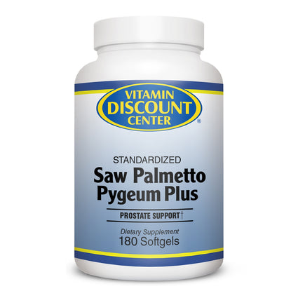 Saw Palmetto Pygeum Plus By Vitamin Discount Center - 180 Softgels