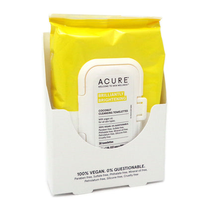 Coconut Plus Argan Oil Towelettes by Acure - 30 Towelettes