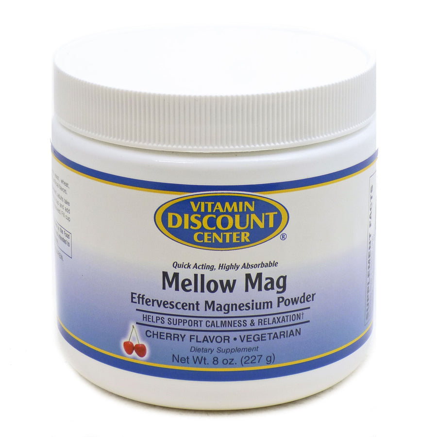 Mellow Mag Cherry Magnesium Drink Mix by Vitamin Discount Center - 8 Ounces