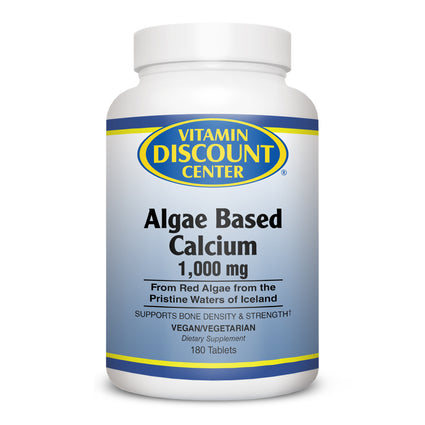Algae Based Calcium 1000 mg By Vitamin Discount Center - 180 Tablets