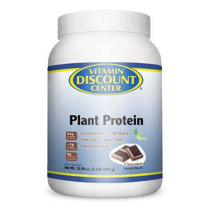 Vitamin Discount Center Plant Protein Chocolate - 2.2 lbs