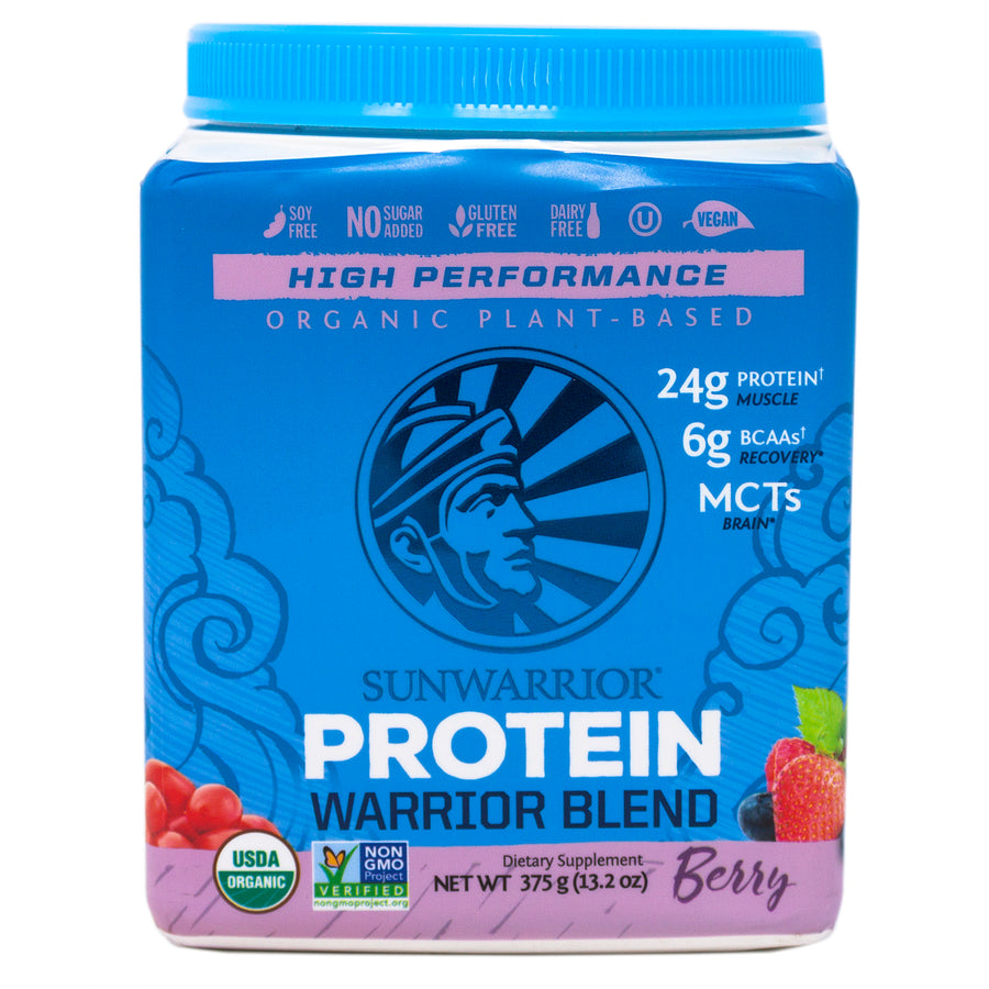 Sun Warrior Protein Warrior Blend Berry -  13.2 Ounces