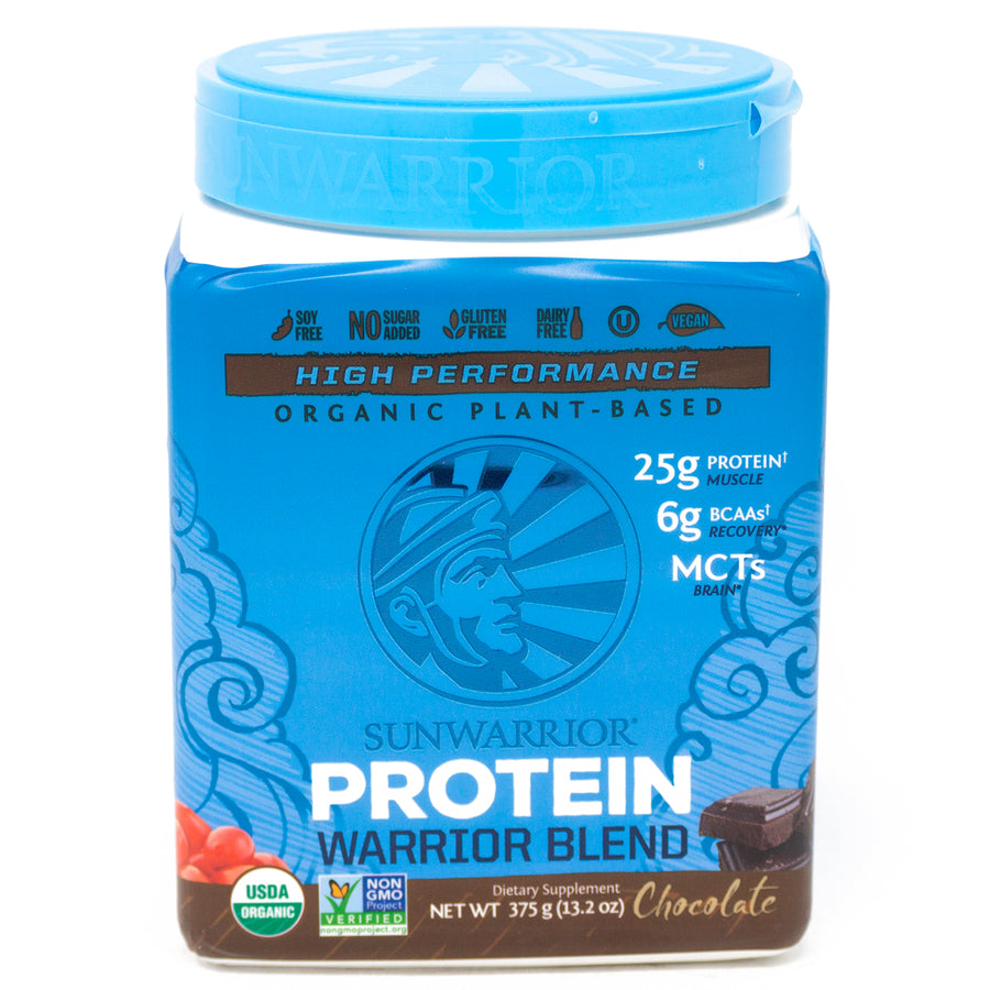 Sun Warrior Protein Warrior Blend Chocolate - 13.2 Ounces