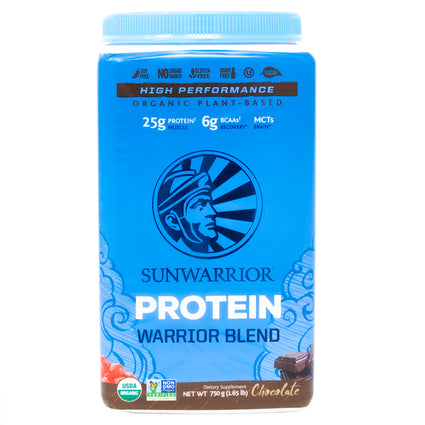 Sun Warrior Protein Warrior Blend Chocolate -  1.65 Pounds