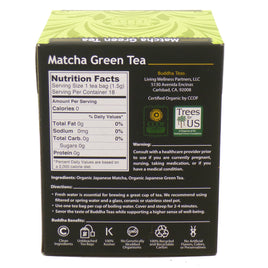 Matcha Green Tea by Buddha Teas - 18 Tea Bags