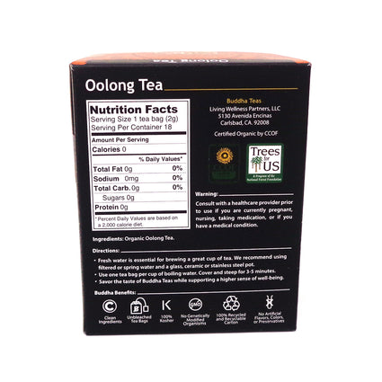Organic Oolong Tea by Buddha Tea - 18 Teabags