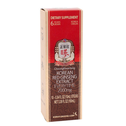 Single Serving 10 Packs Korean Red Ginseng Extract