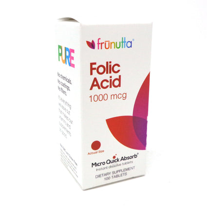 Frunutta Folic Acid 1000mcg - 100 Tablets