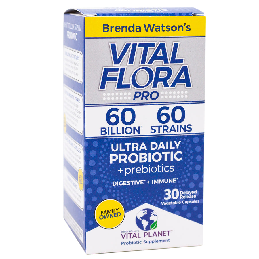 Vital Planet Flora 60/60 Probiotic Ultra Daily - 30 Capsules