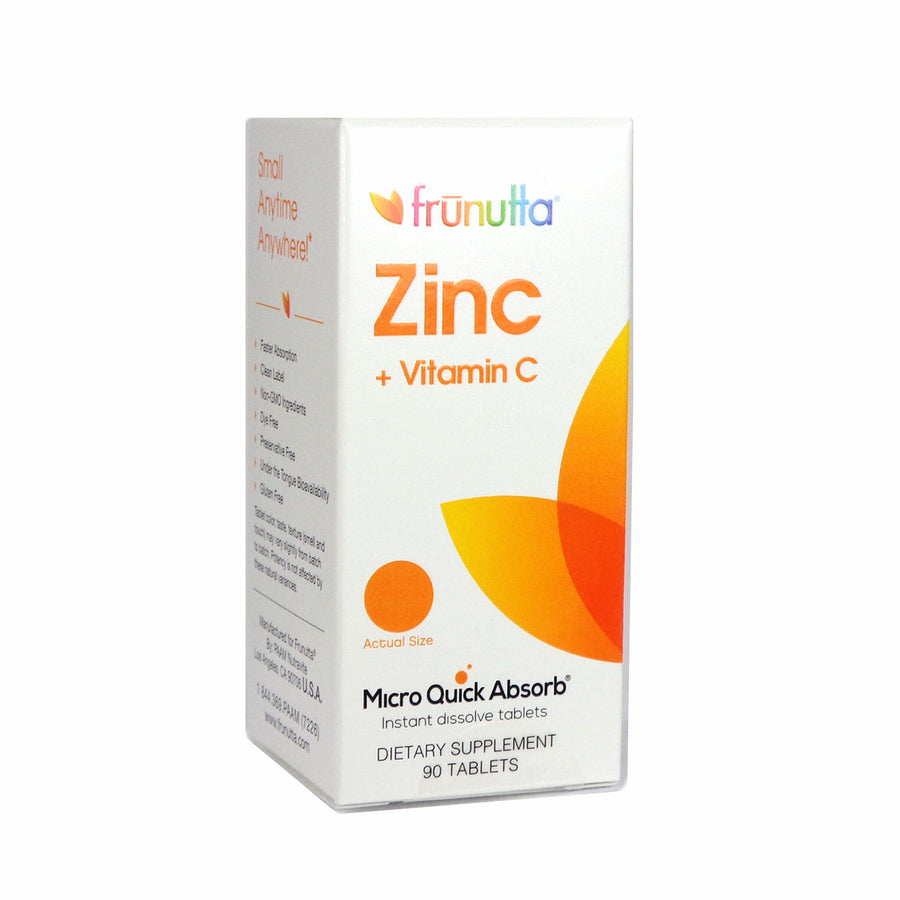 Frunutta Zinc 5 mg + Vitamin C By Frunutta - 90 Tablets