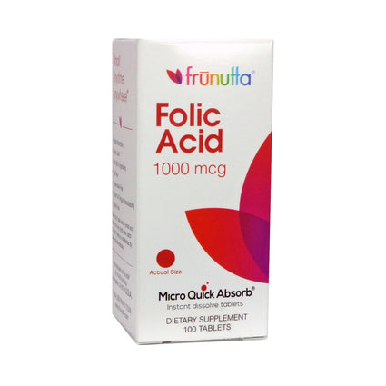 Frunutta Folic Acid by Frunutta - 100 Tablets