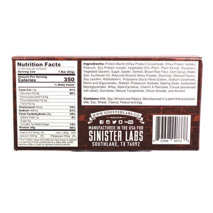 Sinfit  Protein Bar Peanut Buter Crunch - 2.93 Ounces by Sinister Labs