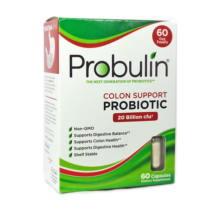 Colon Support Probiotic by Probulin - 60 Capsules