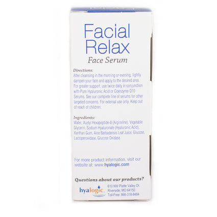 Hyalogic Facial Relax Serum By Episilk Hyalogic - 1 Ounce