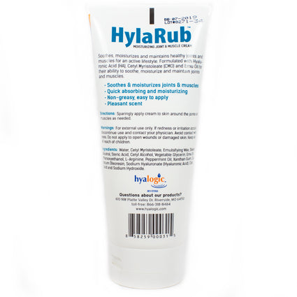 Hyalogic HylaRub Joint Cream By Hyalogic - 6 Ounces
