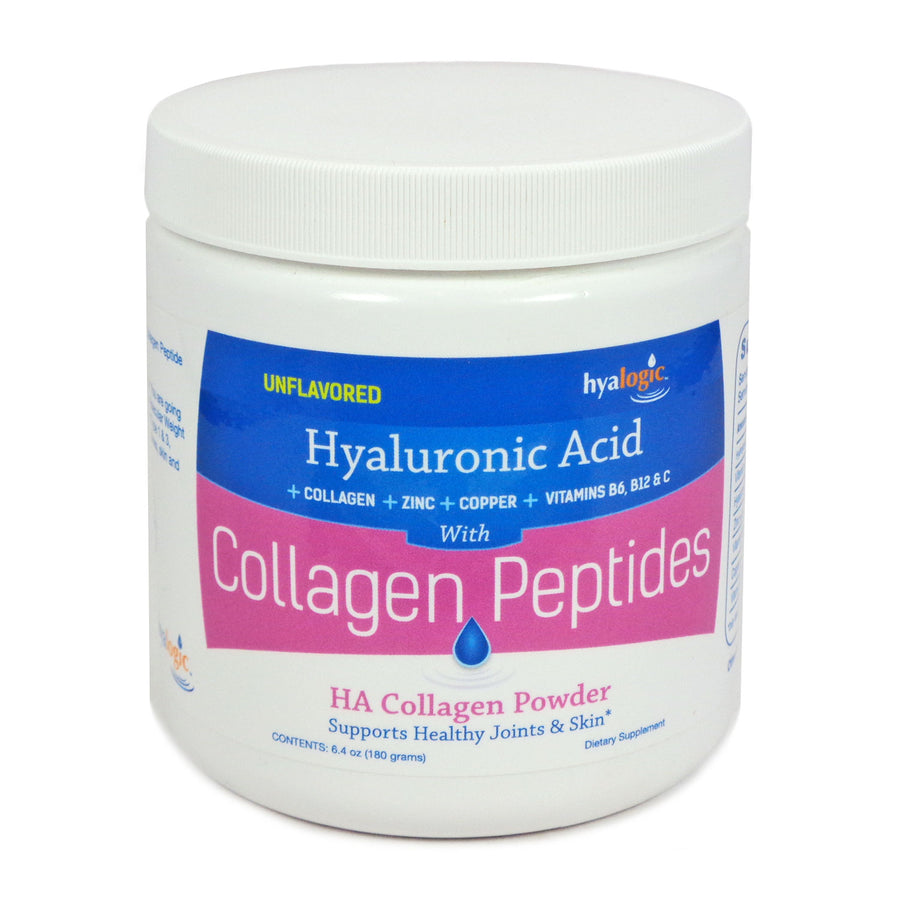Hyalogic Hyaluronic Acid Unflavored with Collagen Peptides  30 Servings