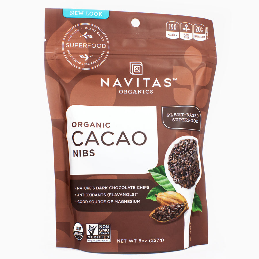 Raw Organic Cacao Nibs by Navitas Naturals - 8 Ounces