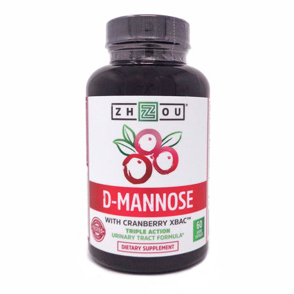 Zhou Nutrition D Mannose with Cranberry Concentrate 60 Capsules