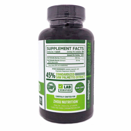 Zhou Nutrition Saw Palmetto 60 Capsules