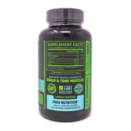 Zhou Nutrition Muscle BCAA - 120 Capsules