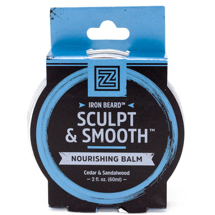 Zhou Nutrition Iron Beard Sculpt and Smooth Balm  -  2 Fluid Ounces