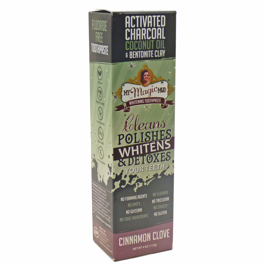 Whitening Toothpaste Cinnnamon Clove By My Magic Mud - 4 Ounces