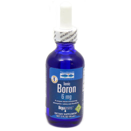 Ionic Boron 6 MilliGrams By Trace Minerals Research - 2 Fluid Ounces