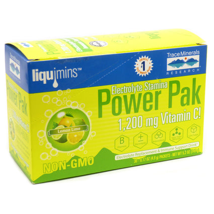Electrolyte Stamina Power Pack Lemon Lime By Trace Minerals Research 30 Packets