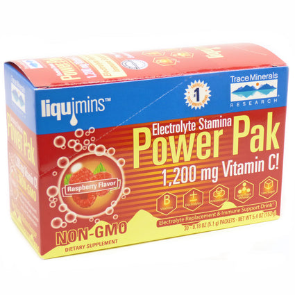 Electrolyte Stamina Power Pack Raspberry By Trace Minerals Research - 30 Packets