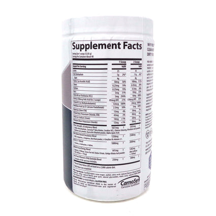 Trace Minerals - Clean Preworkout -  50 Servings