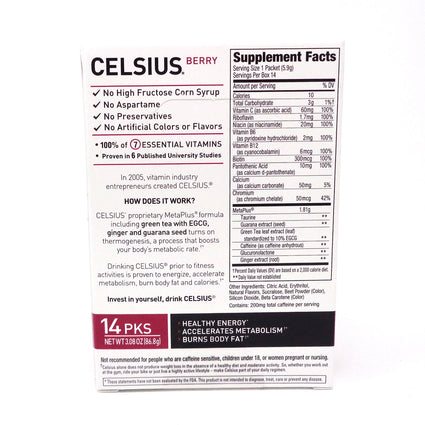 Stickpacks Berry Blast by Celsius - 14 Packets