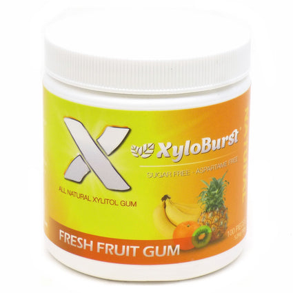 Xylitol Gum Fruit by Xyloburst - 100 Pieces