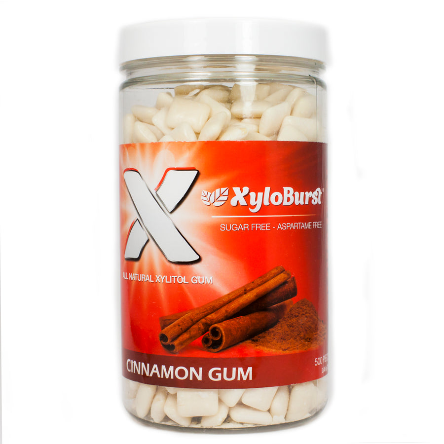 Xylitol Gum Cinnamon By Xyloburst - 500 Pieces