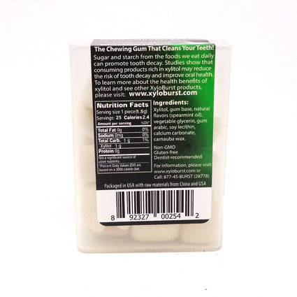 Xylitol Gum Spearmint By Xyloburst - 25 Pieces