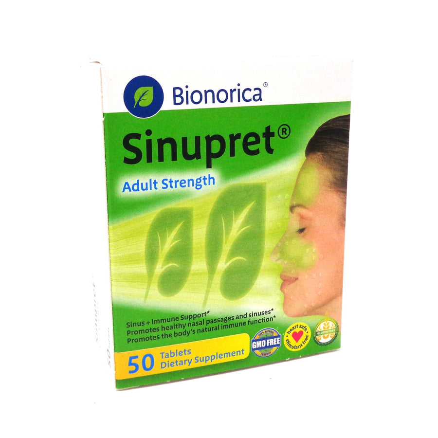Sinupret Sinus + Immune Support Adults By Bionorica - 50 Tablets