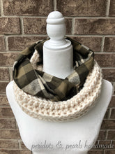 WELLINGTON Crochet and Flannel Infinity Scarf