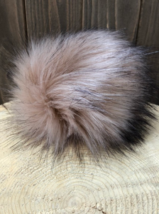 ROSE GOLD Faux Fur Pom Pom