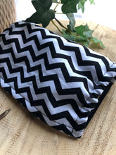 Cotton Face Mask - Black & white chevron