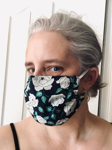 Cotton Face Mask - Taupe paisley